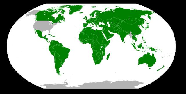 Metric system adoption map